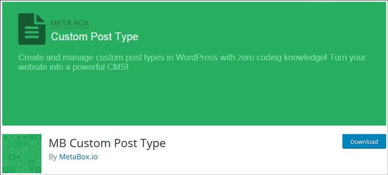 MB Custom Post Type