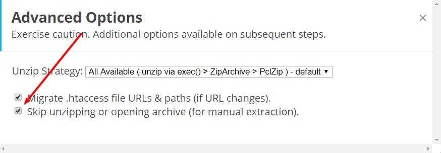 استخراج فایل های بک آپ سایت
