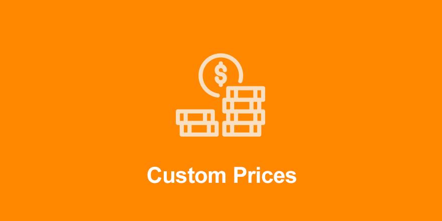 افزونه Custom prices